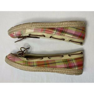 Sperry Top Sider Plaid Boat Shoes Slip Ons Flats